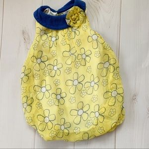 Blue and Yellow Bubble Outfit